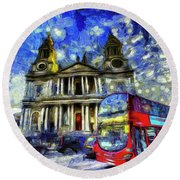 Vincent Van Gogh London Round Beach Towel