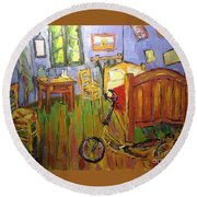 Vincent Van Go's Bedroom Round Beach Towel