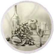 Vine Of Memories Round Beach Towel