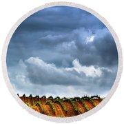 Round Beach Towel featuring the photograph Vineyard 01 by Edgar Laureano