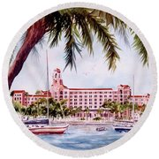 Vinoy View Round Beach Towel