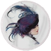 Vintage 1914 Fashion Round Beach Towel