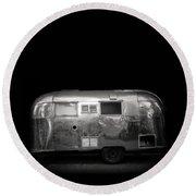 Vintage Airstream Travel Camper Trailer Square Round Beach Towel