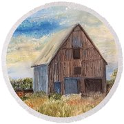 Vintage Barn Round Beach Towel