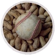 Vintage Baseball And Peanuts Square Round Beach Towel