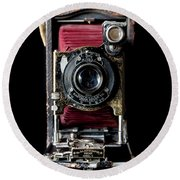 Vintage Bellows Camera Round Beach Towel