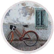 Vintage Series #3 Bike Round Beach Towel