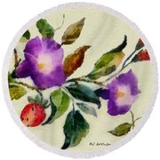Vintage Charm Round Beach Towel by RC deWinter