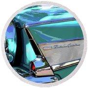 Vintage Chevrolet Belair Round Beach Towel