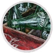Vintage Coke Square Format Round Beach Towel by Paul Ward
