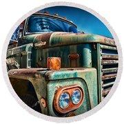 Vintage Dodge 700 Diesel Truck  Round Beach Towel