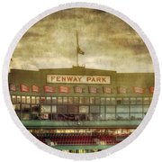 Vintage Fenway Park - Boston Round Beach Towel