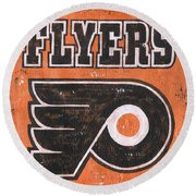 Vintage Flyers Sign Round Beach Towel