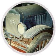 Vintage Ford Round Beach Towel