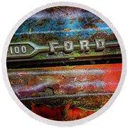 Vintage Ford F100 Round Beach Towel