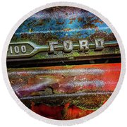 Vintage Ford F100 Round Beach Towel