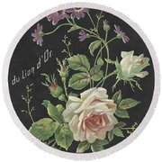 Vintage French Perfume  Round Beach Towel