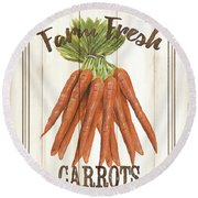 Vintage Fresh Vegetables 3 Round Beach Towel