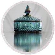 Vintage Glass Candy Jar Round Beach Towel