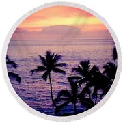 Vintage Hawaii Round Beach Towel