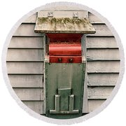 Round Beach Towel featuring the photograph Vintage Mailbox by Gary Slawsky