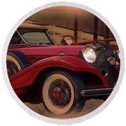 Vintage Mercedes Round Beach Towel