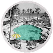 Vintage Miami Round Beach Towel