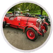 Round Beach Towel featuring the photograph Vintage Motors by Adrian Evans