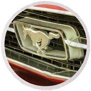 Vintage Mustang Round Beach Towel