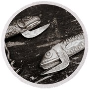 Round Beach Towel featuring the photograph Vintage Openers  by Andrey  Godyaykin