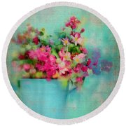 Flowers From A Cottage Garden Round Beach Towel