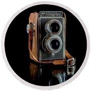 Vintage Ricohflex Camera Round Beach Towel