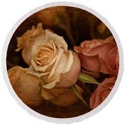 Round Beach Towel featuring the photograph Vintage Roses March 2017 by Richard Cummings