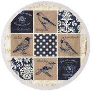 Vintage Songbirds Patch Round Beach Towel