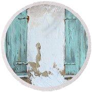 Vintage Series #1 Windows Round Beach Towel