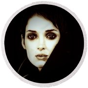 Vintage Winona Ryder Round Beach Towel by Fred Larucci