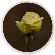 Vintage Yellow Rose 2018 Round Beach Towel