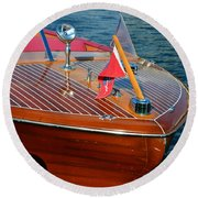Classic 1958 Chris Craft Continental Round Beach Towel