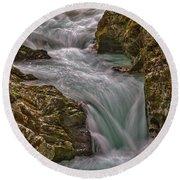 Round Beach Towel featuring the photograph Vintgar Gorge Rapids #2 - Slovenia by Stuart Litoff