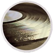 Vinyl Record Round Beach Towel by Lyn Randle