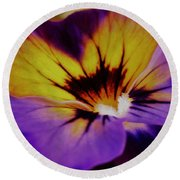 Viola Round Beach Towel