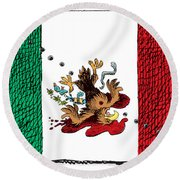 Violence In Mexico Round Beach Towel