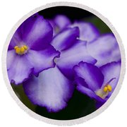 Violet Dreams Round Beach Towel