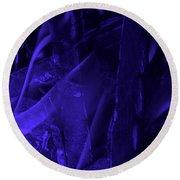 Violet Shine I Round Beach Towel