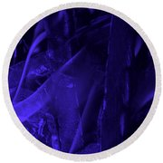 Violet Shine I Round Beach Towel