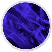 Violet Shine I I Round Beach Towel