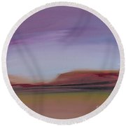 Violet Skies Round Beach Towel