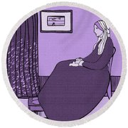 Violet Whistler's Mother Round Beach Towel