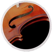 Violin Round Beach Towel