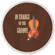 Violin Violas In Charge Of The Groove 5539.02 Round Beach Towel